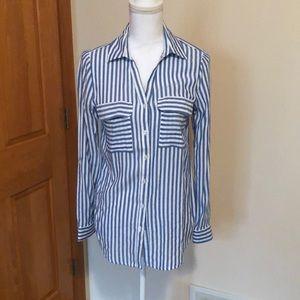 Striped shirt bleuh ciel sz m